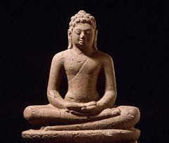 picture of a statue of Buddha in meditation